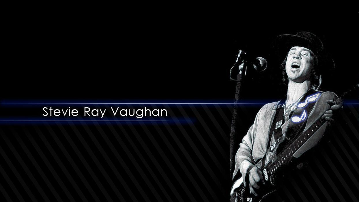 STEVIE RAY VAUGHAN blues rock hard classic guitar poster wallpaper