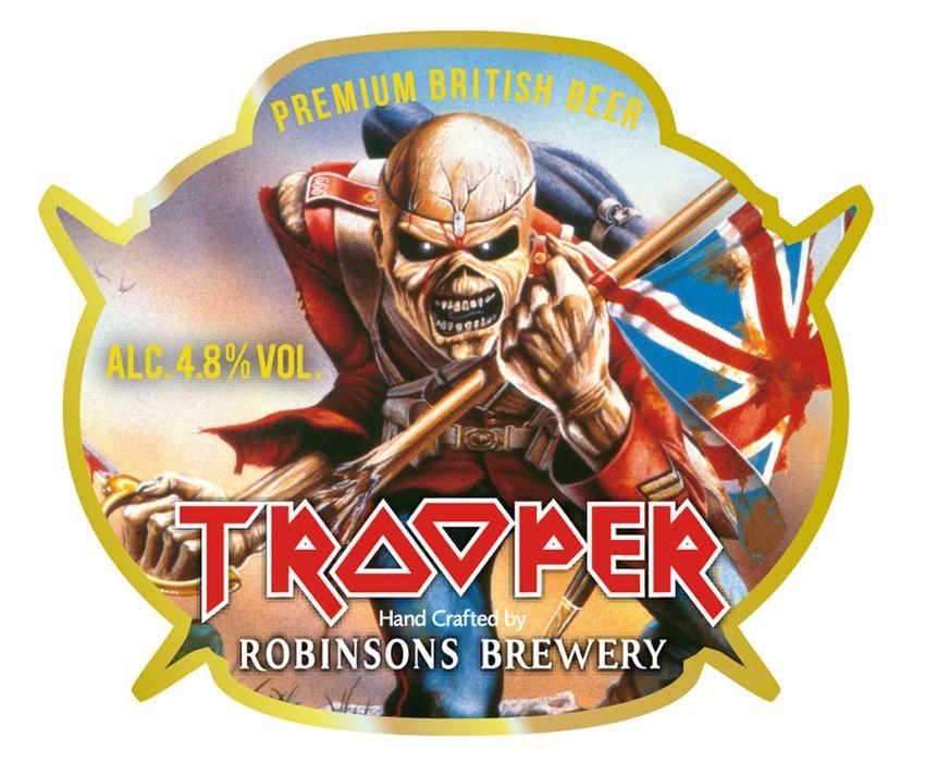 beer alcohol drink poster heavy metal iron maiden dark skull wallpaper