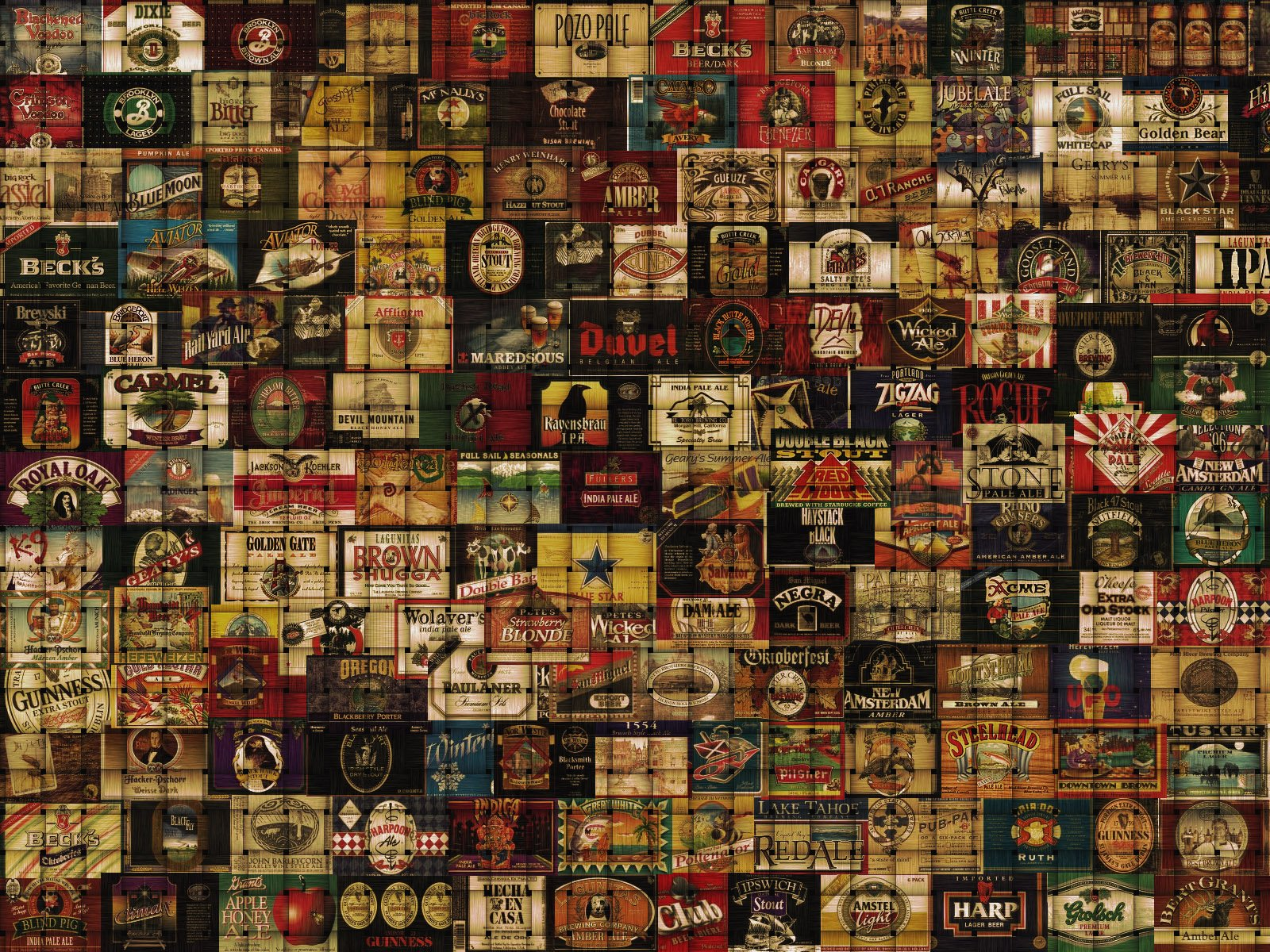 beer alcohol drink poster collage tile tiles wallpaper 1600x1200 334825 wallpaperup. Black Bedroom Furniture Sets. Home Design Ideas