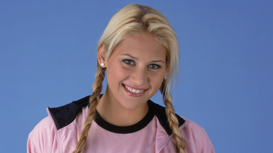 blondes women Anna Kournikova wallpaper
