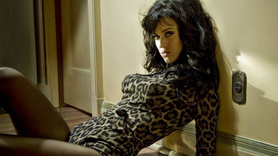 brunettes women Katy Perry catsuits pantyhose leotard wallpaper
