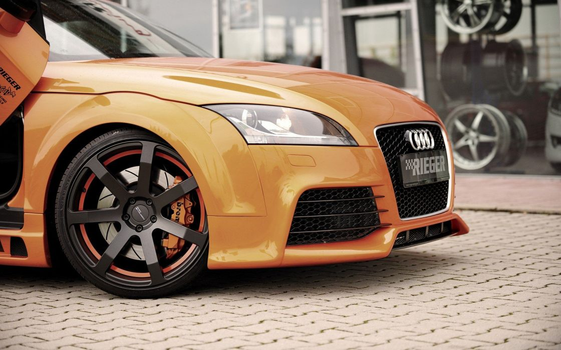 cars Audi tuning Audi TT orange cars wallpaper