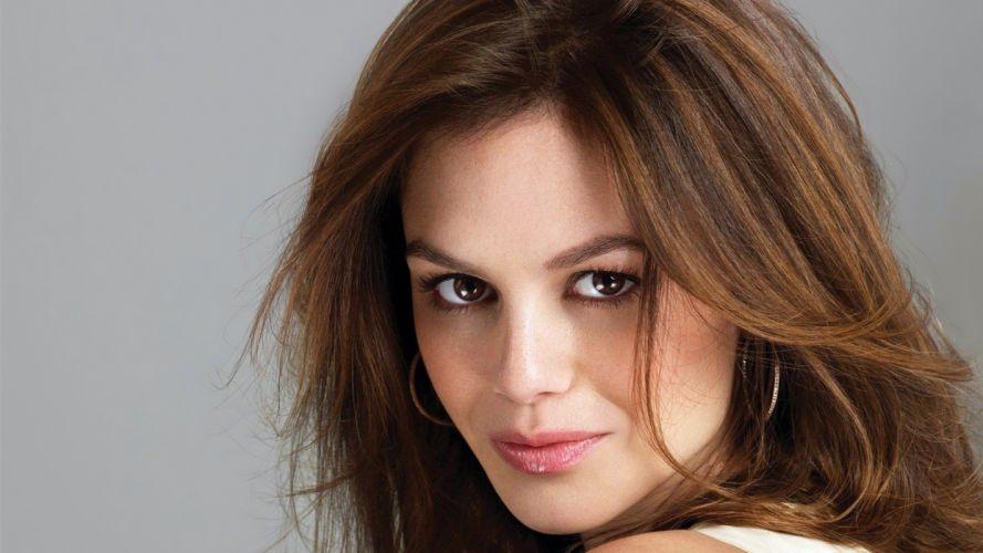brunettes women actress celebrity brown eyes Rachel Bilson portraits wallpaper