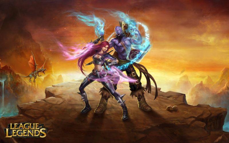 League of Legends artwork Ryze Katarina the Sinister Blade wallpaper