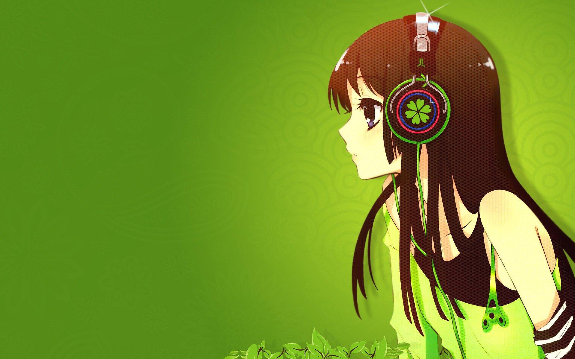 Headphones Green K On Akiyama Mio Anime Simple Background Anime Girls Wallpaper 1920x1200 335031 Wallpaperup