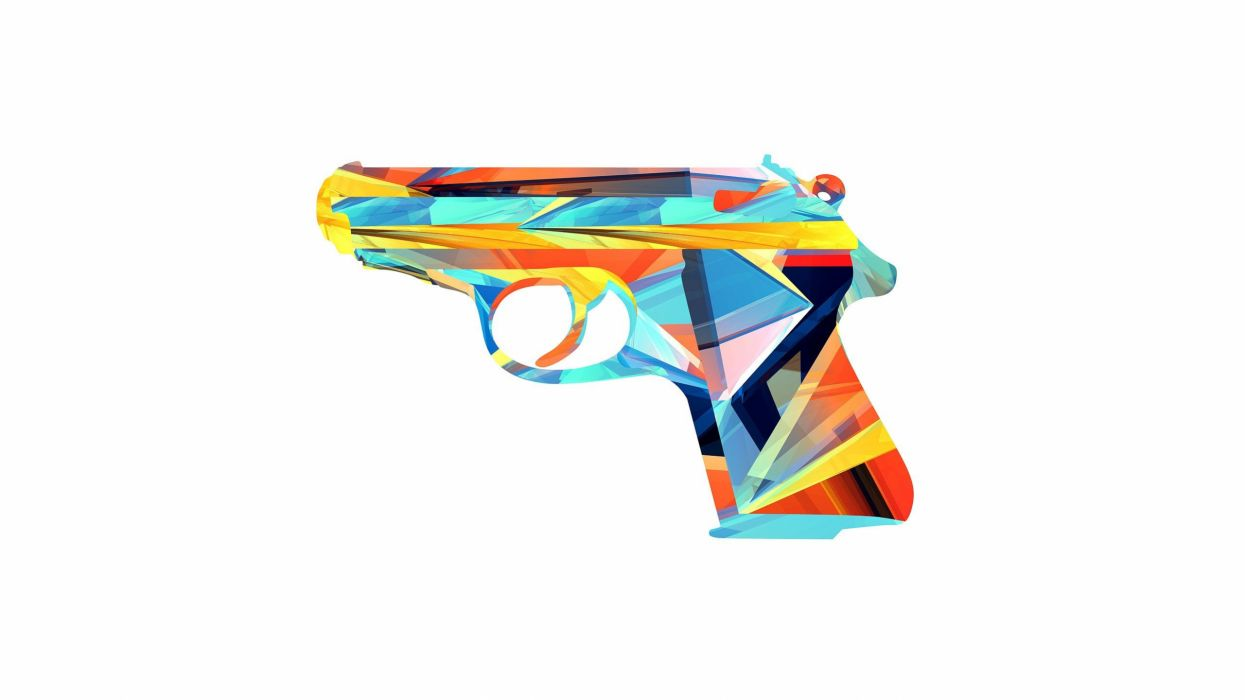 abstract guns vectors digital art Justin Maller wallpaper