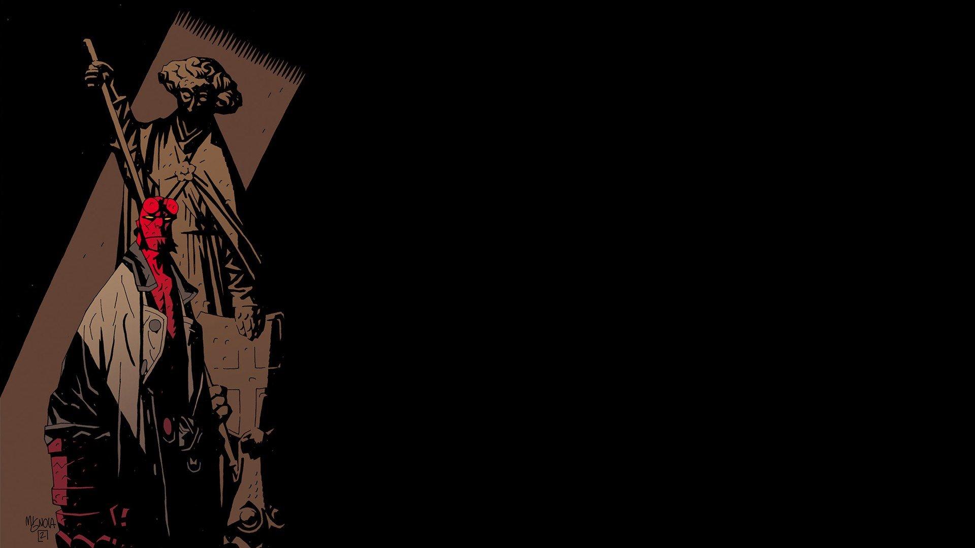 comics hellboy wallpaper 1920x1080 335107 wallpaperup