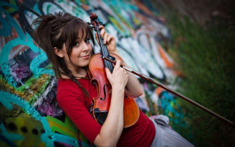musicians Lindsey Stirling wallpaper