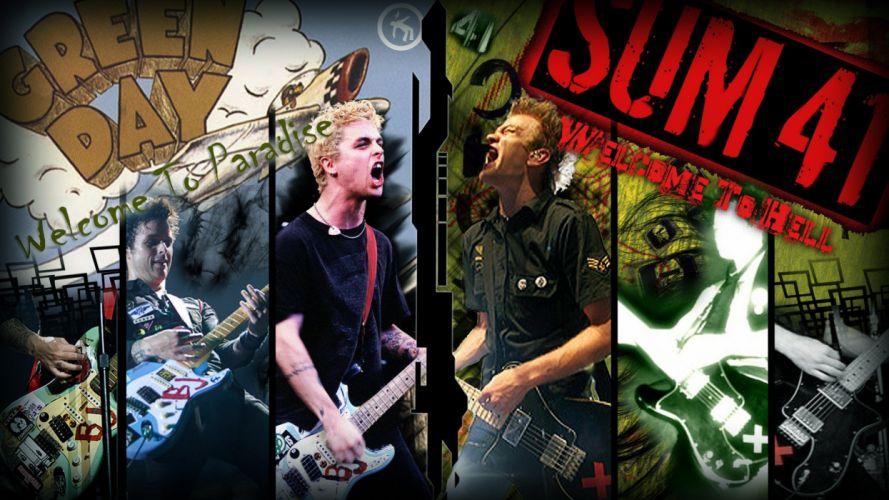 Green Day punk Billie Joe Armstrong Pop Punk sum 41 punk rock Deryck Whibley wallpaper