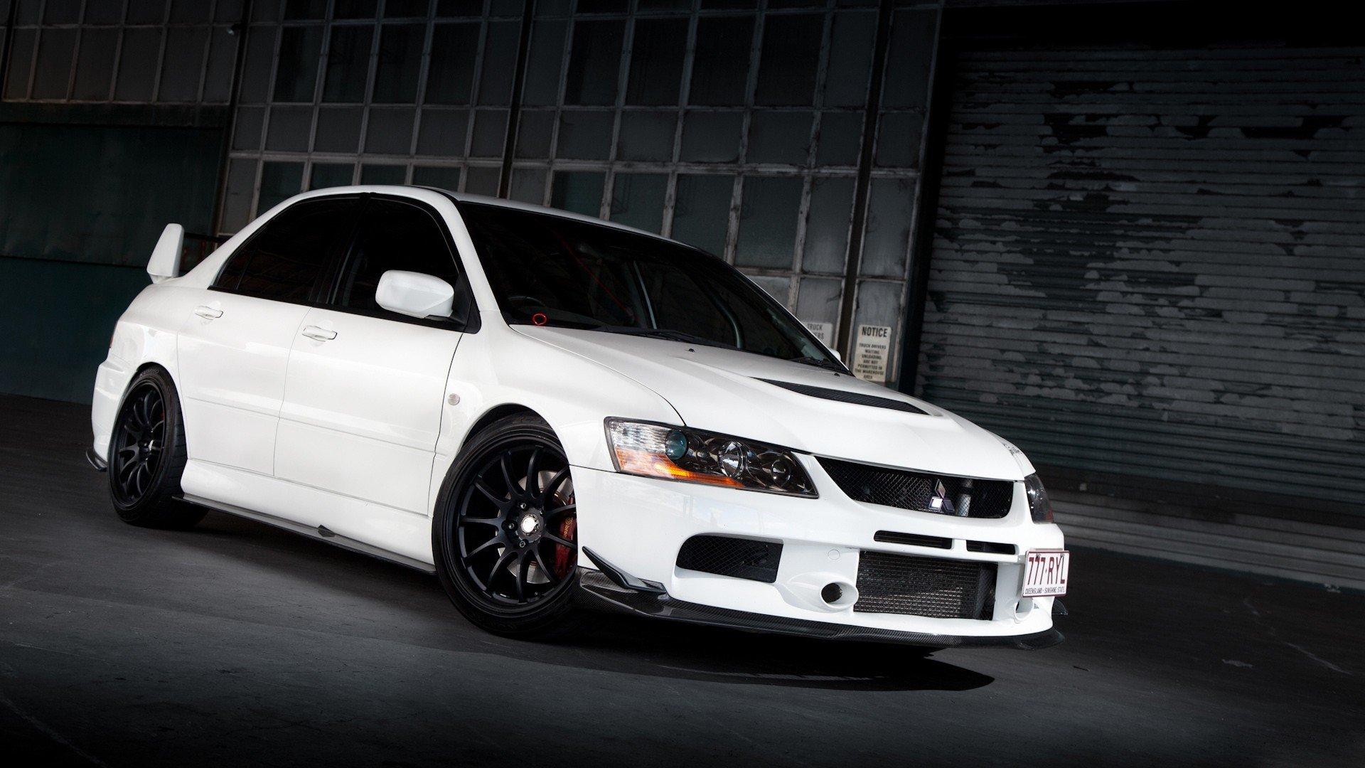 Cars Vehicles Tuning White Cars Mitsubishi Lancer