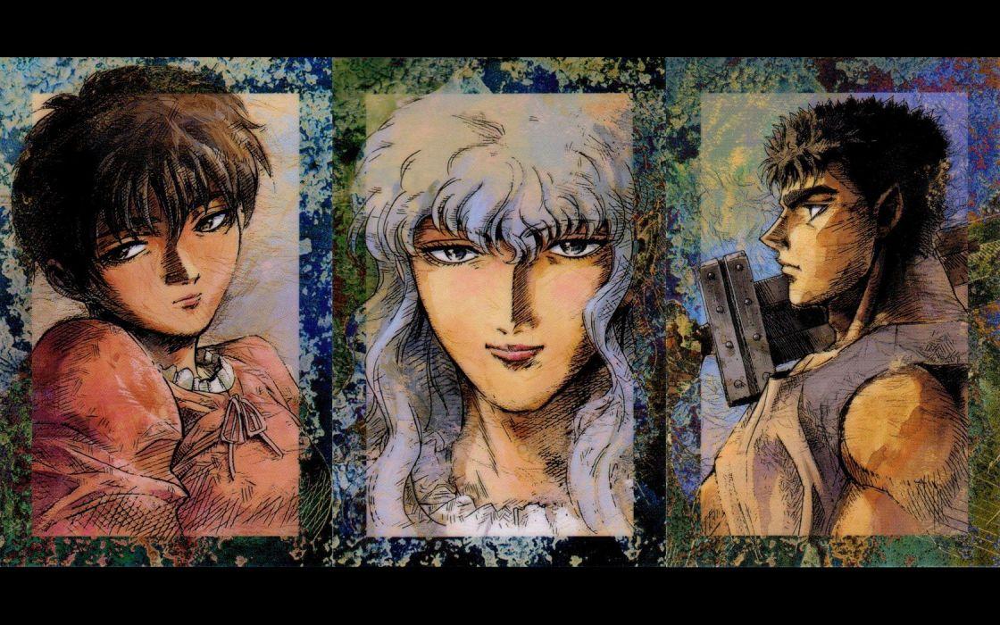 Berserk Guts anime Griffin Casca wallpaper