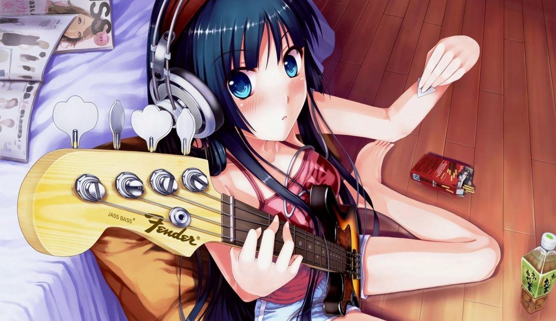 K-ON! Akiyama Mio guitar picks wallpaper