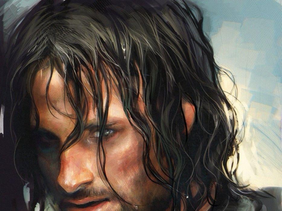 The Lord of the Rings Aragorn artwork Sakimichan wallpaper