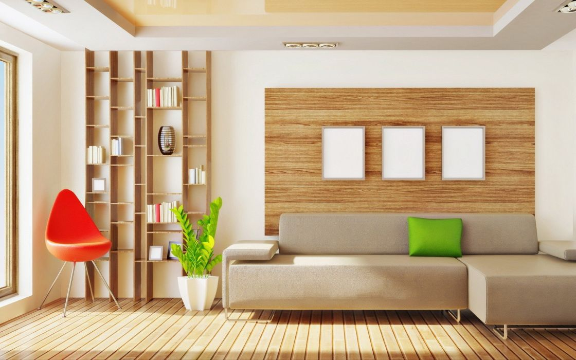architecture room living room wallpaper