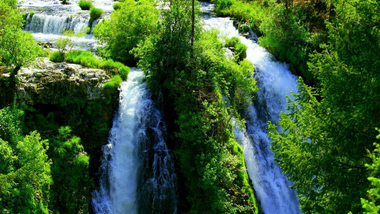 landscapes nature waterfalls land wallpaper