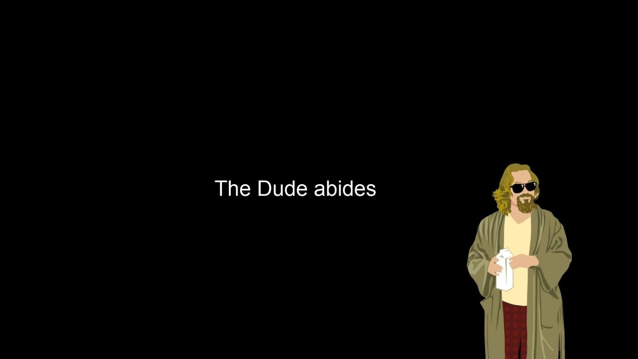 minimalistic The Dude The Big Lebowski wallpaper
