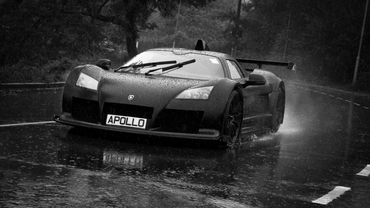 rain cars Gumpert Gumpert Apollo wallpaper