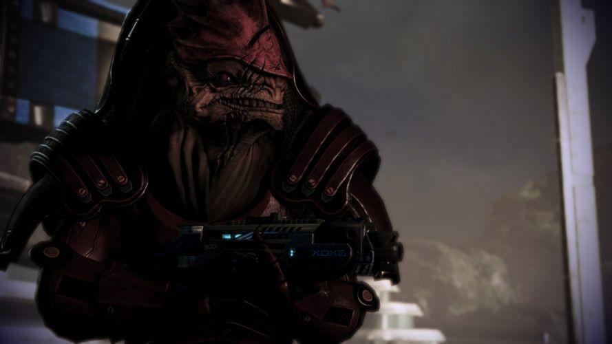 video games Mass Effect Mass Effect 3 krogan Wrex wallpaper