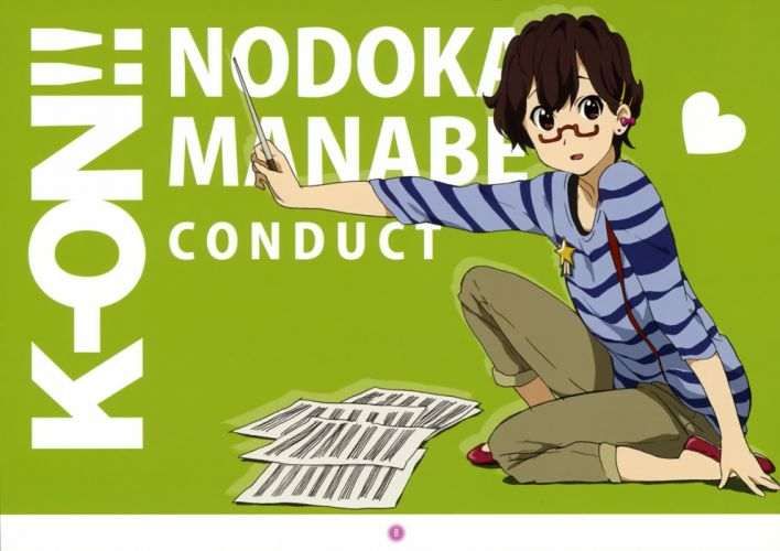 K-ON! meganekko Manabe Nodoka wallpaper