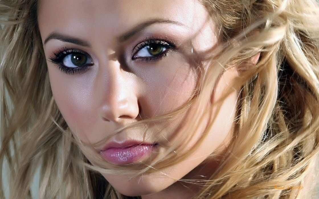 blondes women Stacy Keibler faces wallpaper