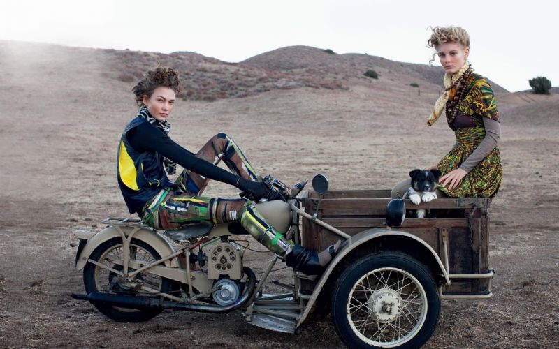 brunettes women models puppies short hair motorbikes Patricia van der Vliet Karlie Kloss wallpaper
