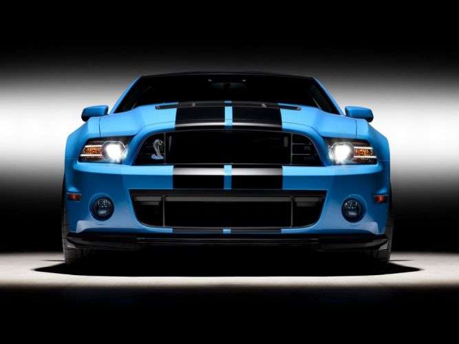 cars studio front Ford Shelby Ford Mustang Shelby GT500 wallpaper