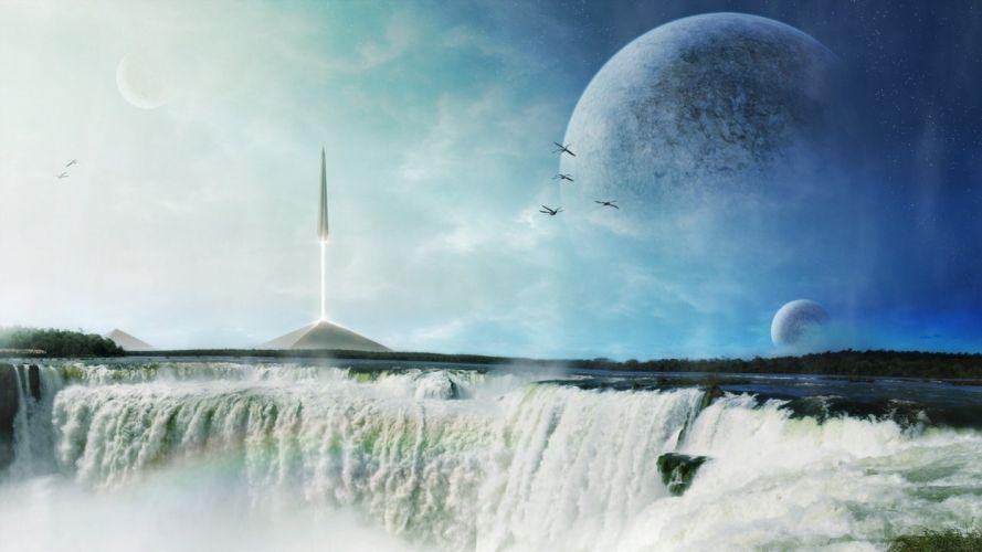 science fiction artwork wallpaper