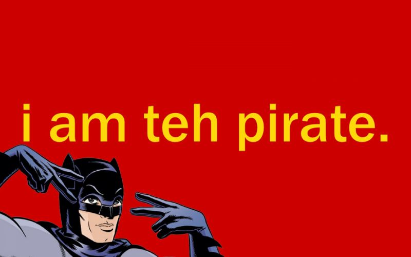 Batman pirates funny simple background wallpaper