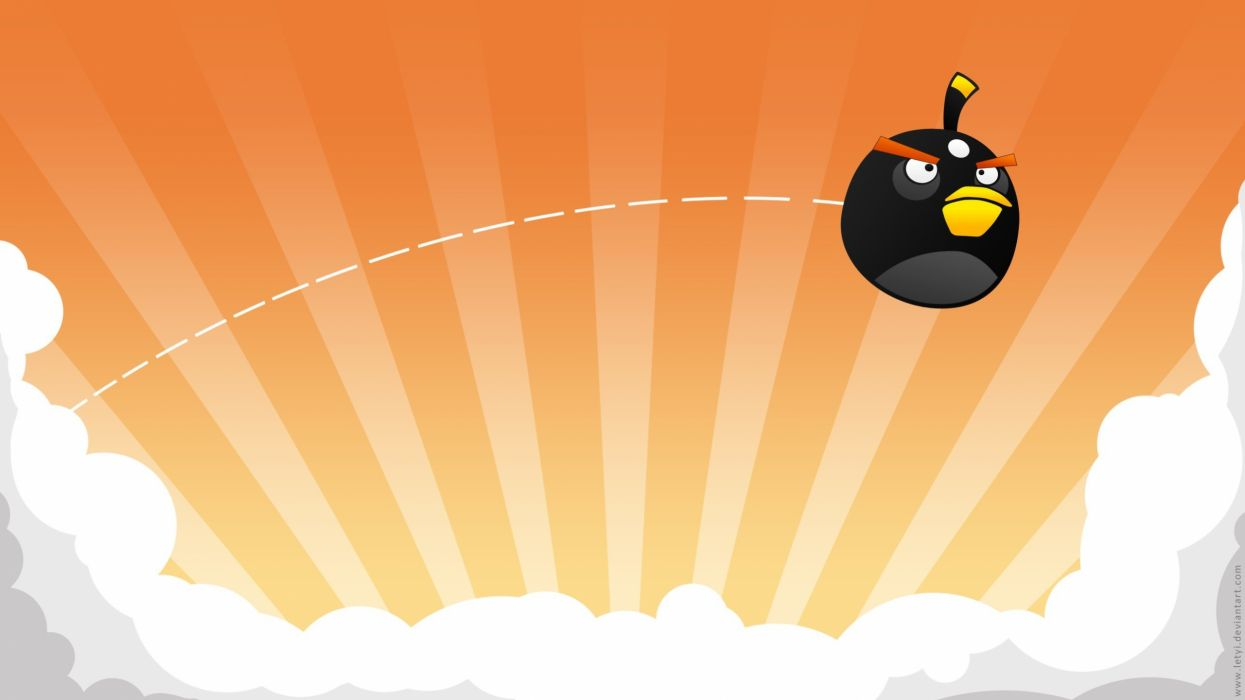 black Angry Birds wallpaper