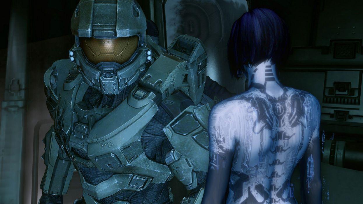 Video Games Cortana Master Chief Halo 4 Wallpaper 2560x1440