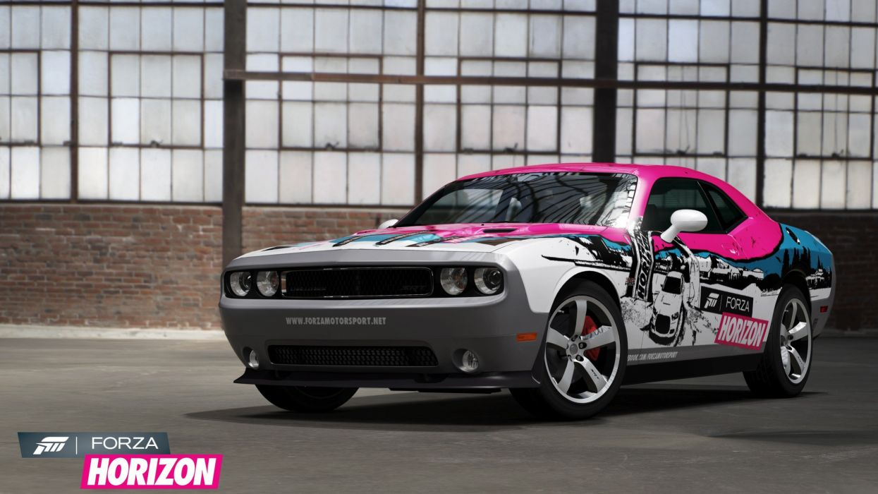video games cars Xbox 360 Dodge Challenger SRT8 Forza Horizon game wallpaper