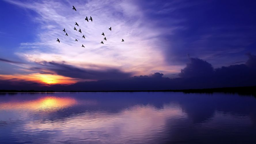 sunset clouds landscapes nature skyscapes land wallpaper