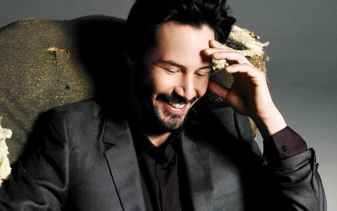 men Keanu Reeves smiling actors wallpaper