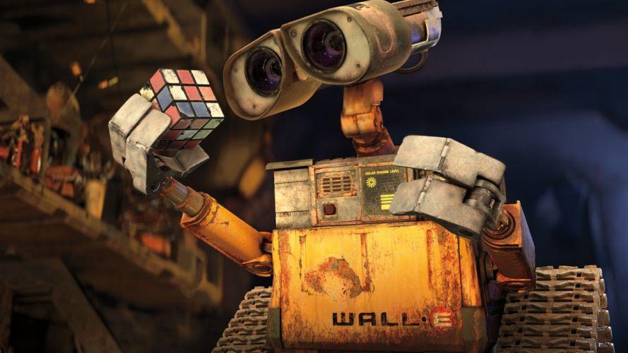 Wall-E cubes Rubiks Cube wallpaper