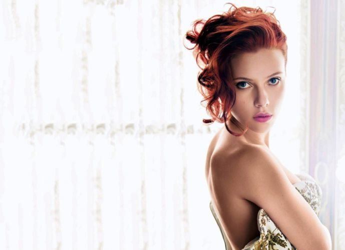 actress Scarlett Johansson look sexy babe redhead wallpaper