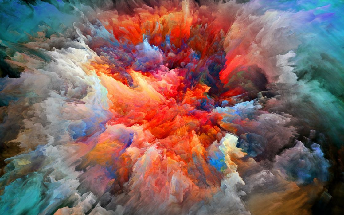 abstraction smoke paint brightness explosion wallpaper