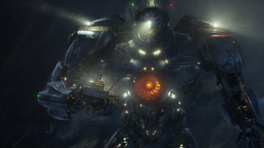 abroad pacific rim the robot sci-fi mecha wallpaper