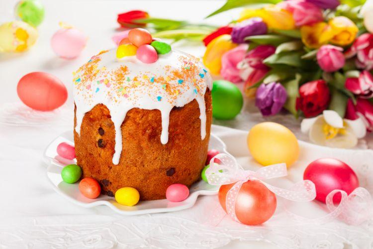 cake easter holiday eggs wallpaper