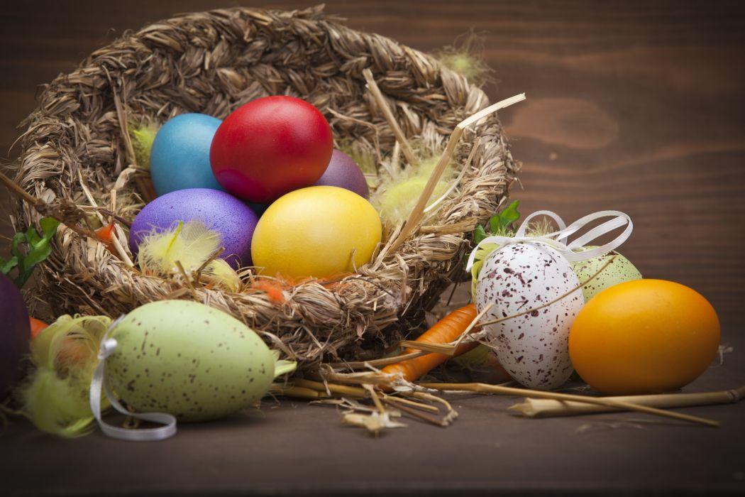 eggs easter nest holiday wallpaper