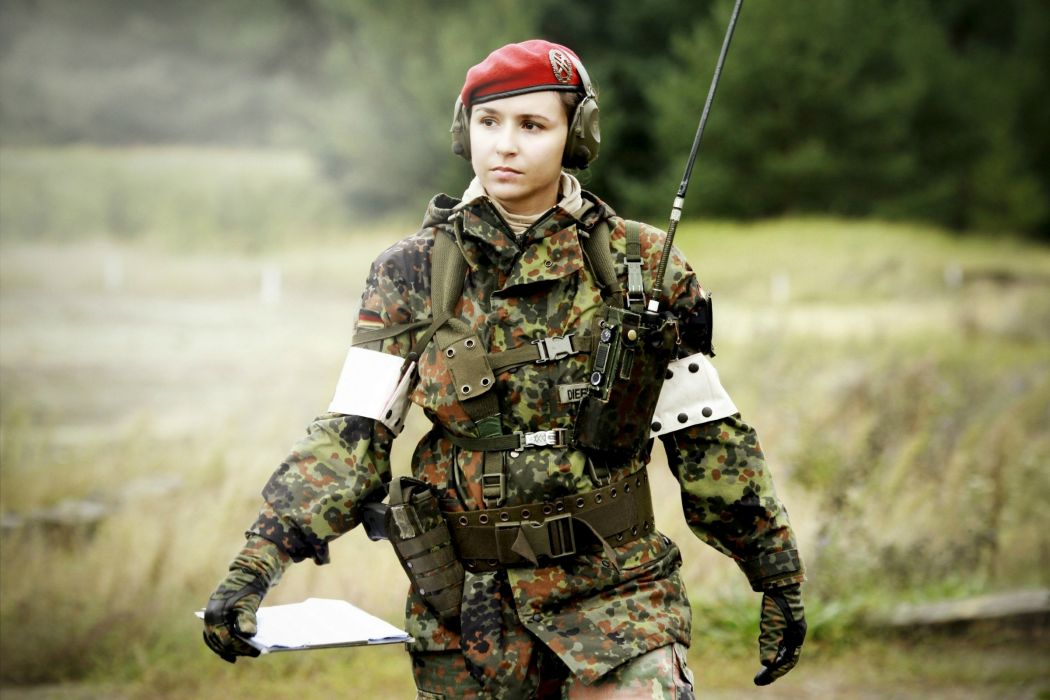 Germany women military babe wallpaper