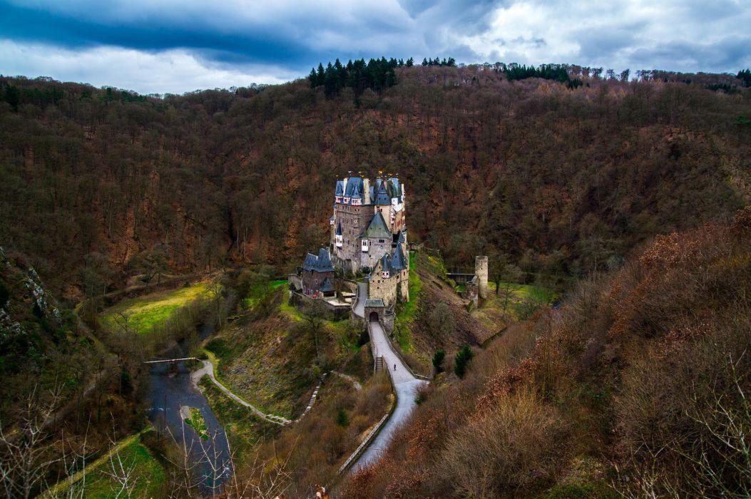 germany eltz castle forest castle autumn wallpaper
