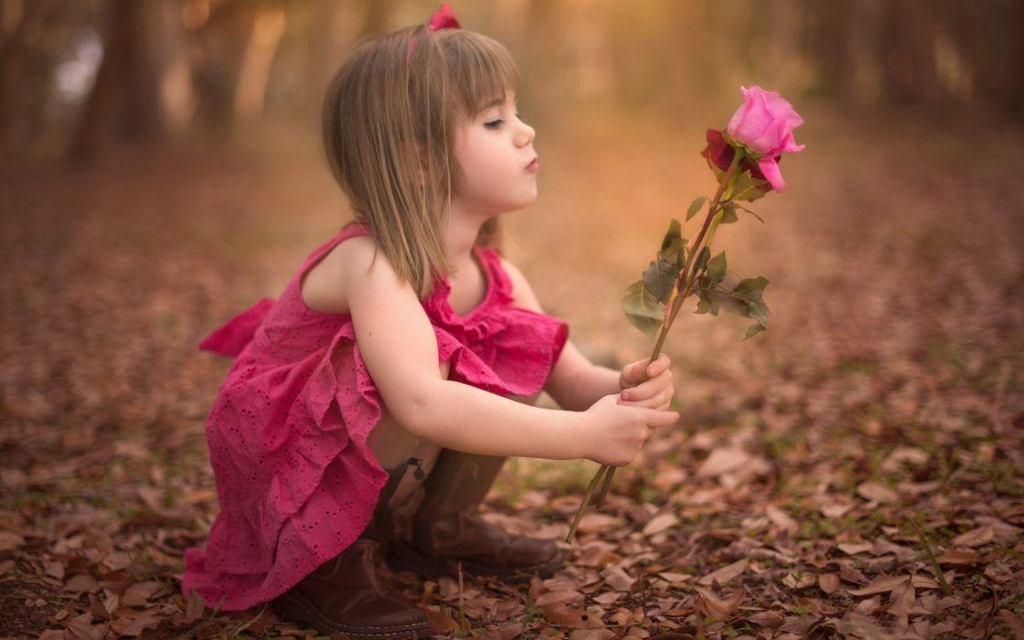 girl flower rose baby fall girl flower rose baby autumn mood wallpaper