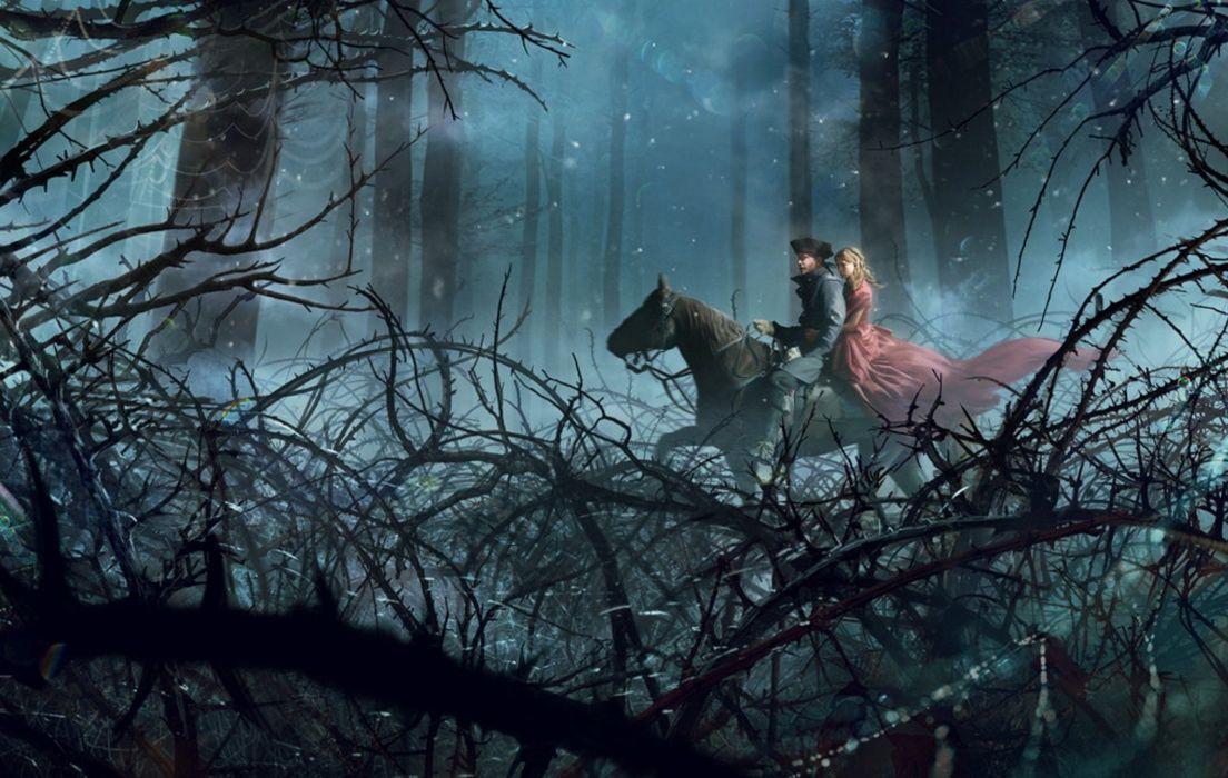 guy forest horse dress girl wallpaper