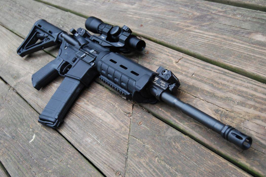 m-4 assault rifle weapon gun military police wallpaper