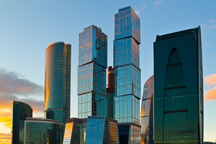 moscow city skyscraper wallpaper