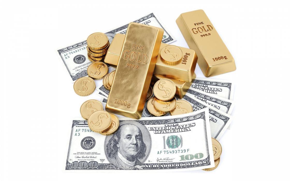 note bill money gold wallpaper