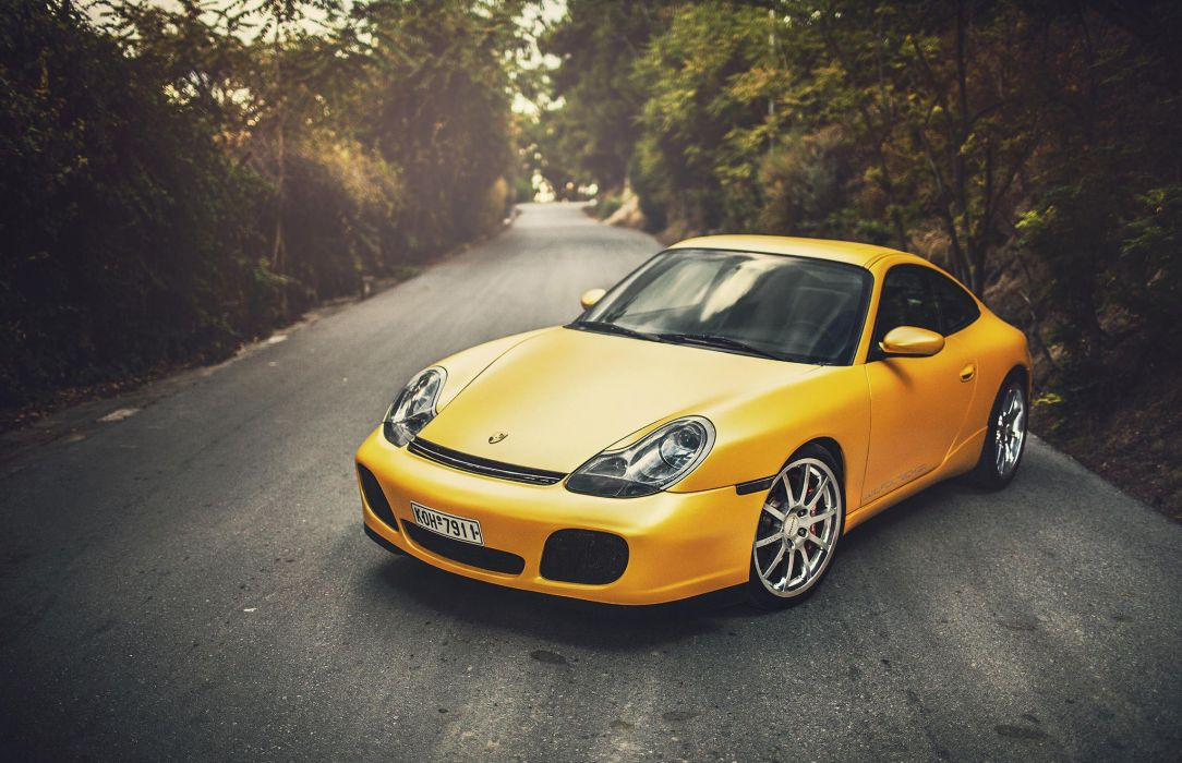 porsche 996 yellow wildness carrera wallpaper