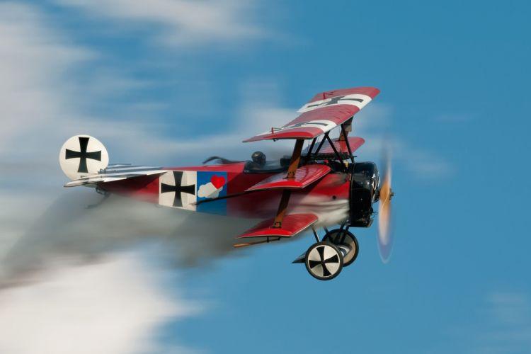 plane fokker dr i triplane germany biplane military battle f wallpaper