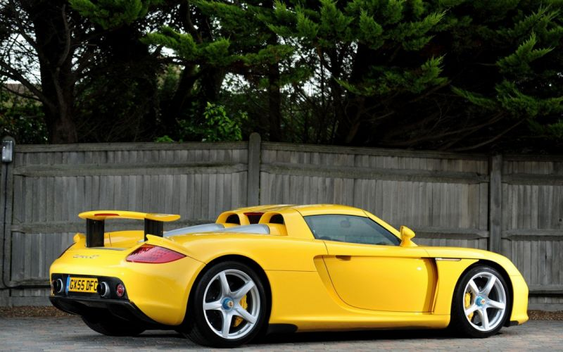 Porsche yellow supercar wallpaper