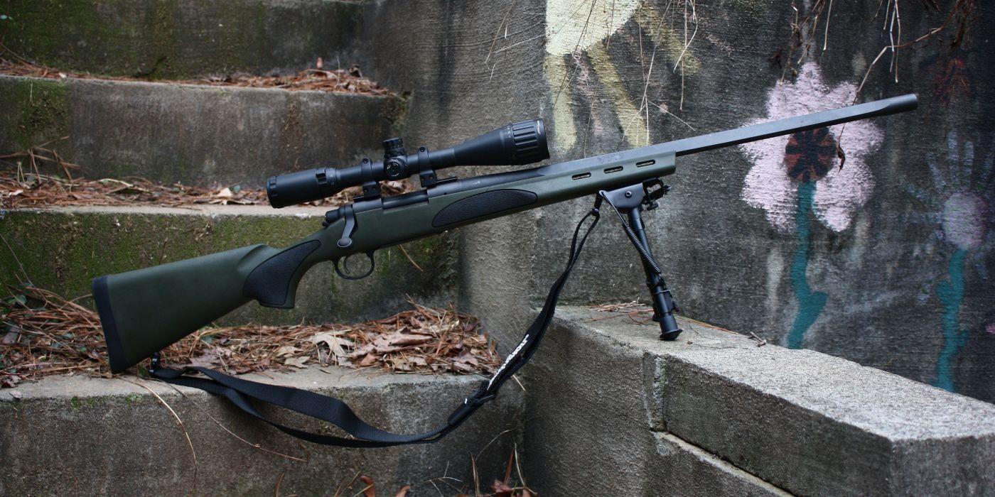 sniper rifle remington 700 vtr military police swat weapon gun wallpaper